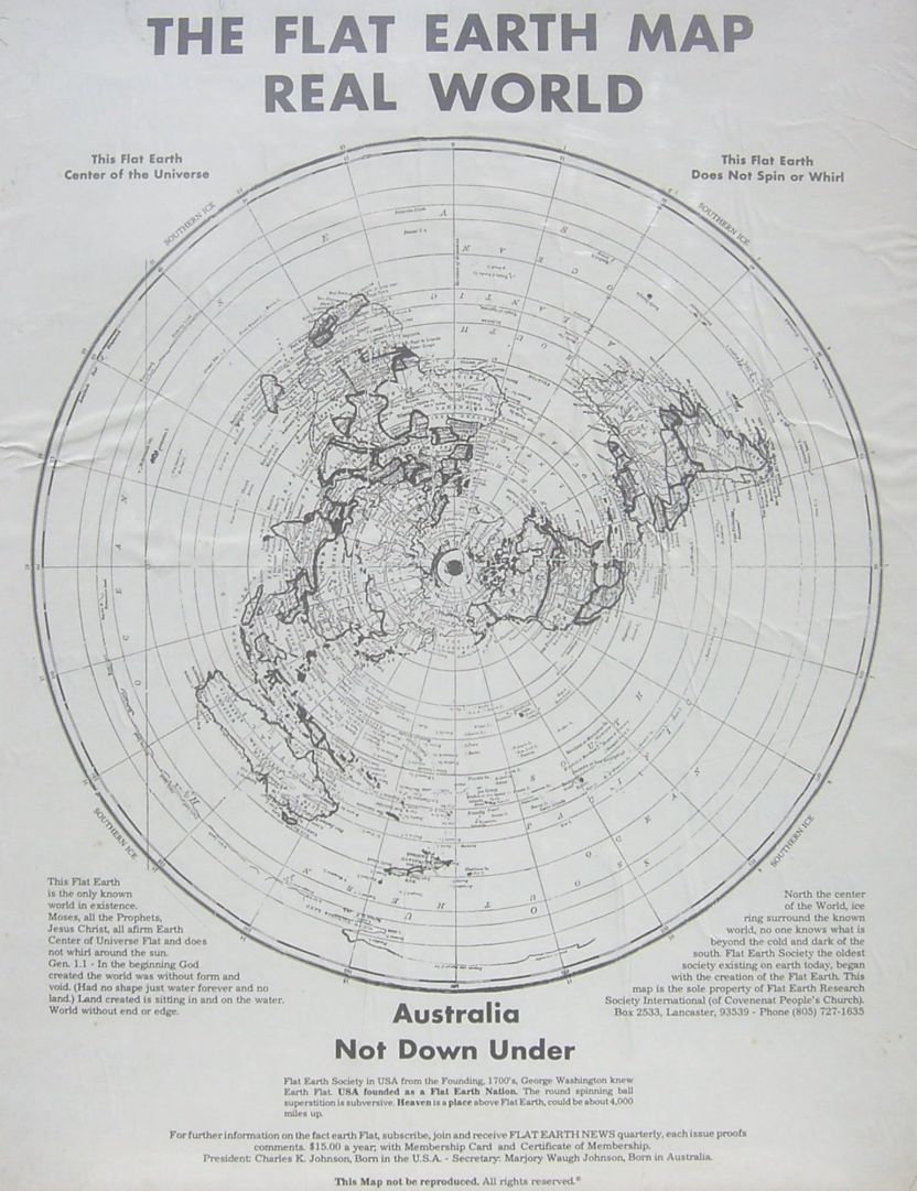 Flat earth miscellaneous the flat earth map gumiabroncs Gallery
